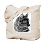 Tortoise Long-Hair Cat Tote Bag