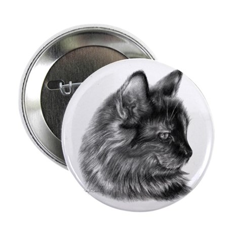 "Tortoise Long-Hair Cat 2.25"" Button (10 pack)"