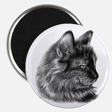 Tortoise Long-Hair Cat Magnet