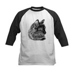 Tortoise Long-Hair Cat Kids Baseball Jersey