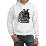 Tortoise Long-Hair Cat Hooded Sweatshirt