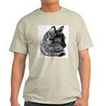 Tortoise Long-Hair Cat Ash Grey T-Shirt