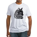 Tortoise Long-Hair Cat Fitted T-Shirt