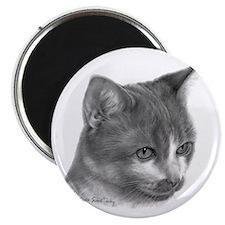 "Orange & White Short-Hair Cat 2.25"" Magnet (10 pac"
