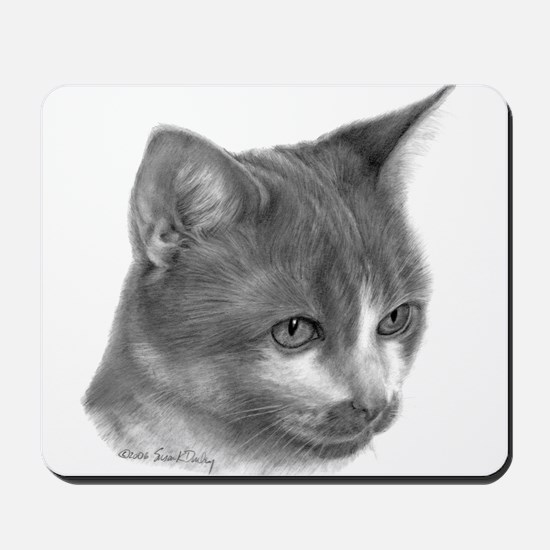 Orange & White Short-Hair Cat Mousepad
