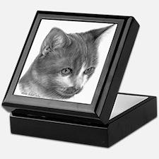 Orange & White Short-Hair Cat Keepsake Box