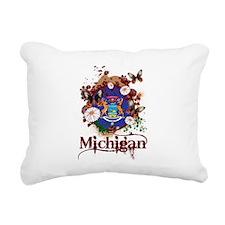 Butterflies Michigan Rectangular Canvas Pillow