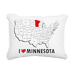 I Love Minnesota Rectangular Canvas Pillow
