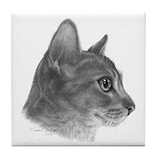 Abysinnian Cat Tile Coaster