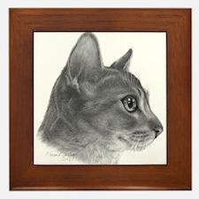 Abysinnian Cat Framed Tile