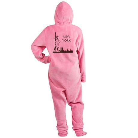 Retro New York Footed Pajamas