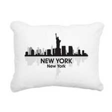 New York Skyline Rectangular Canvas Pillow