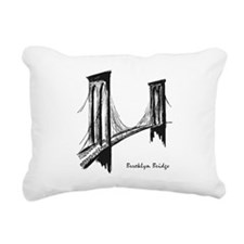 Brooklyn Bridge (Sketch) Rectangular Canvas Pillow
