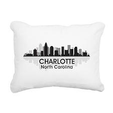 Charlotte Skyline Rectangular Canvas Pillow