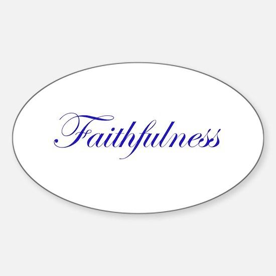Faithfulness Sticker (Oval)