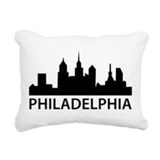 Philadelphia Skyline Rectangular Canvas Pillow