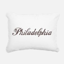 Vintage Philadelphia Rectangular Canvas Pillow