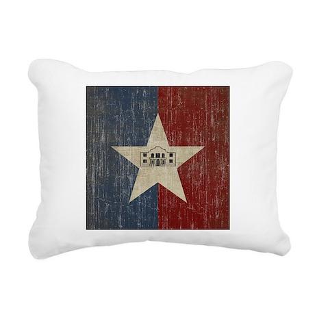 Vintage San Antonio Flag Rectangular Canvas Pillow
