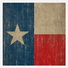 Vintage Texas Flag Invitations
