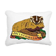 Wisconsin Badger Rectangular Canvas Pillow