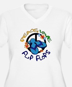 peace, love, flip-flops Plus Size T-Shirt