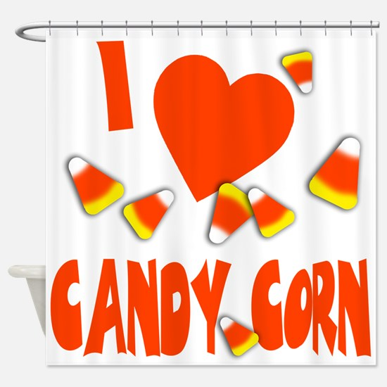 i love candy corn.png Shower Curtain