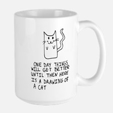 Here is the drawing of a cat_CP.png Large Mug