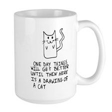 Here is the drawing of a cat_CP.png Mug