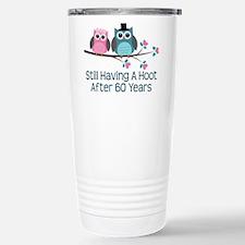 60th Anniversay Owls Stainless Steel Travel Mug
