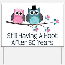 50th Anniversary Owls Yard Sign