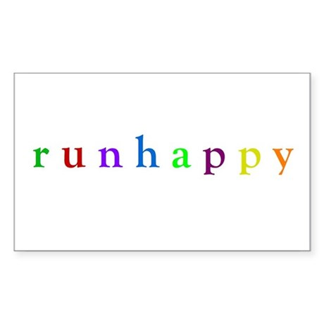run happy Oval Sticker