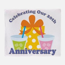 20th Anniversary Party Throw Blanket