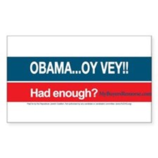 Obama... Oy Vey!! My Buyer's Remorse Decal