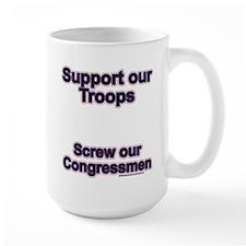 Troops vs. Congress Mug