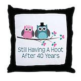 Anniversary 40 Throw Pillows