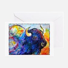 Buffalo, colorful art! Greeting Card
