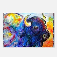 Buffalo, colorful art! Postcards (Package of 8)