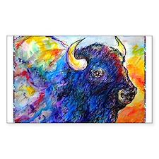 Buffalo, colorful art! Decal