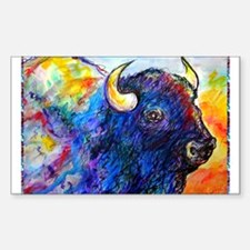 Buffalo, colorful art! Decal