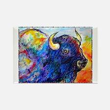 Buffalo, colorful art! Rectangle Magnet