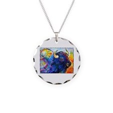 Buffalo, colorful art! Necklace