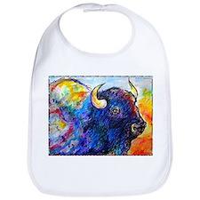 Buffalo, colorful art! Bib