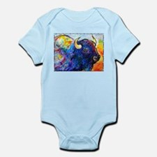 Buffalo, colorful art! Infant Bodysuit
