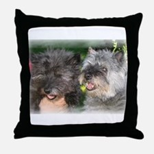 """""""Old Friends"""" Cairn Terriers Throw Pillow"""
