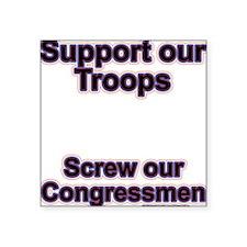 """Troops vs. Congress Square Sticker 3"""" x 3"""""""