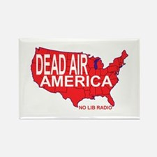 Dead Air America No Lib Radio Rectangle Magnet