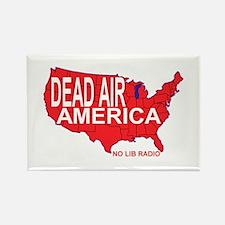 Dead Air America No Lib Radio Rectangle Magnet (10