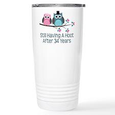 34th Anniversay Owls Travel Mug
