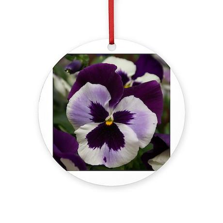 Purple Pansy Ornament (Round)