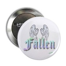 """Fallen Rainbow with Wings 2.25"""" Button"""